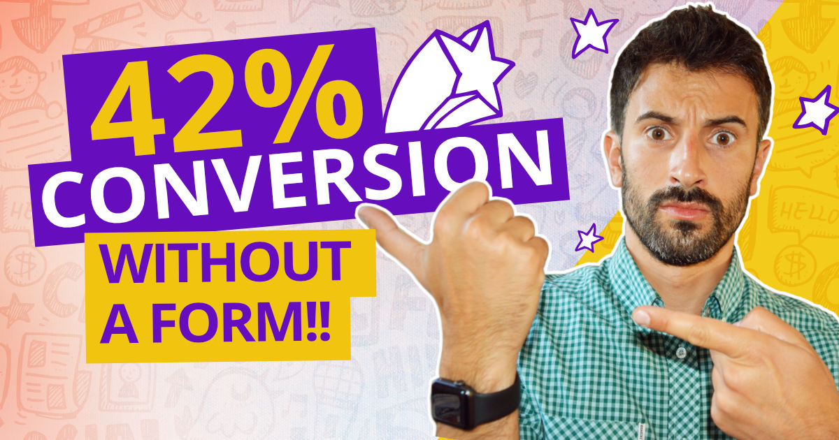 How to get 42% conversion on your landing page without an email form